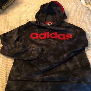 Adidas Black/grey/red Hoodie